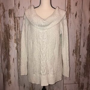 White House black market sweater off shoulder